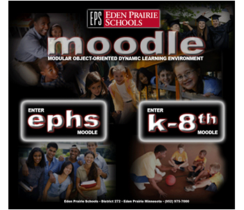 Image showing Eden Prairie schools Moodle website entrance