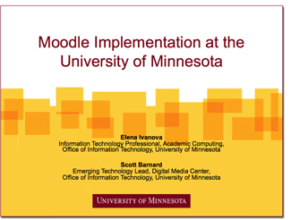 Moodle at the UofMN graphic