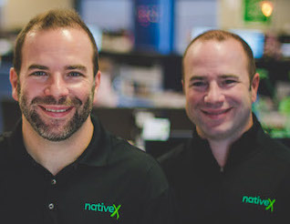 Ryan (left) and Rob Weber, cofounders of NativeX